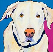 Golden Lab Paintings - Aslinn by Pat Saunders-White
