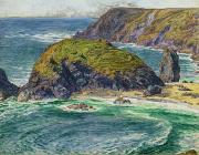 Coastal Scene Prints - Asparagus Island Print by William Holman Hunt