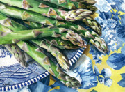 Food Paintings - Asparagus by Nadi Spencer