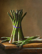 Cooking Painting Prints - Asparagus  Print by Robert Papp