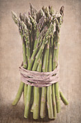 Still Life Photograph Posters - Asparagus Spears Poster by Neil Overy