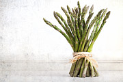 Ribbon Acrylic Prints - Asparagus vintage Acrylic Print by Jane Rix