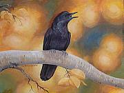 Blackbird Paintings - Aspen Aura by Carole Rickards