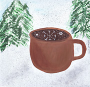 Coffee Cup Prints - Aspen Cup Print by Beth  Cornell