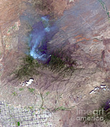 Aster  Framed Prints - Aspen Fire, Arizona Framed Print by Nasa