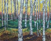 Aspen Trees Paintings - Aspen Forest by Melissa Corry