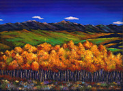Yellows Painting Prints - Aspen in the Wind Print by Johnathan Harris