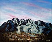 Ski Paintings - Aspen by Jerome Stumphauzer