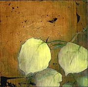 Gold Foil Paintings - Aspen Leaves by Patt Nicol