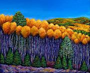 Ski Paintings - Aspen Slopes by Johnathan Harris