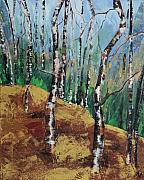 Aspen Trees Paintings - Aspens 2 by Melissa Corry