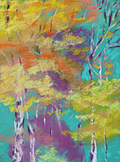 Magic Pastels Posters - Aspens Adorned Poster by Diana Tripp