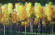 Isolated Pastels Prints - Aspens Print by Michael King
