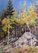 National Pastels Originals - Aspens Near Bear Lake by Carole Haslock