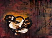 Image Mixed Media Prints - Asphyxiation by Oil Dependency Print by Iosua Tai Taeoalii
