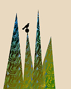 Gray Bird Posters - Aspire Poster by Ann Powell