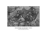 Abe Lincoln Metal Prints - Assassination of President Lincoln Metal Print by War Is Hell Store