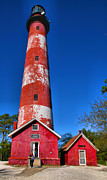 Chincoteague Island Prints - Assateague Light House III Print by Steven Ainsworth