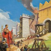 Standard Painting Posters - Assault on Carthage Poster by Severino Baraldi