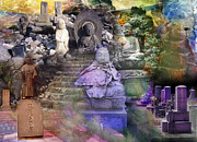 Intervention Digital Art Prints - Assemblage  of Buddhas Print by Kenneth Hadlock