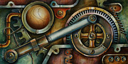 Steam Punk Painting Posters - Assembled Poster by Michael Lang