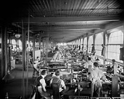 Factory Workers Framed Prints - Assembling Department, National Cash Framed Print by Everett