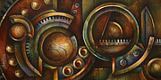 Sprockets Painting Prints - Assembly Required Print by Michael Lang