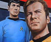Captain Kirk Painting Posters - Assessing a Formidable Opponent Poster by Kim Lockman