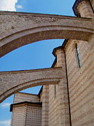 St. Clare Framed Prints - Assisi Italy - Basilica of santa chiara Framed Print by Gregory Dyer