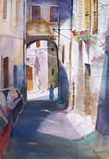 Hanging Baskets Paintings - Assisi Monk by Reveille Kennedy