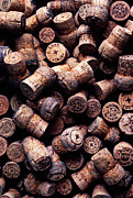 Corks Prints - Assorted champagne corks Print by Garry Gay