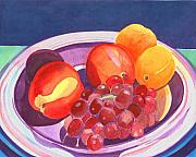 Assorted Painting Framed Prints - Assorted Fruit Framed Print by Helena Tiainen