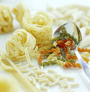 Spaghetti Prints - Assorted Pasta Print by David Munns