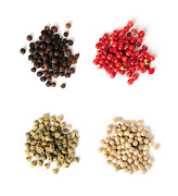 Black Top Photo Prints - Assorted peppercorns Print by Elena Elisseeva