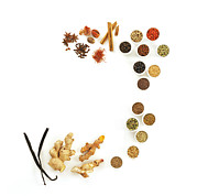 Peppercorns Posters - Assortment Of Spices Poster by David Munns