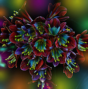 Colorful Flowers Prints - Assortment of Splendor Print by Bill Tiepelman