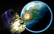 Threatening Prints - Asteroid Impact Print by Christian Darkin