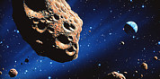 Asteroid Framed Prints - Asteroid On Collision Course With Earth Framed Print by Joe Tucciarone