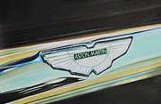 Badge Painting Framed Prints - Aston Martin badge Framed Print by Karl Hamilton-Cox
