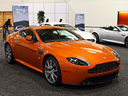 Orange Car Art - Aston Martin DB9 . 7D9624 by Wingsdomain Art and Photography