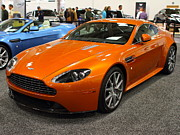 Orange Car Art - Aston Martin DB9 . 7D9625 by Wingsdomain Art and Photography