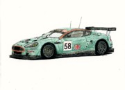 Aston Drawings Originals - Aston Martin DBR9 by Dan Poll