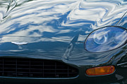 Aston Martin Framed Prints - Aston Martin Hood Framed Print by Jill Reger