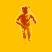 Stencil Digital Art Posters - Astronaut Graphic Poster by Pixel Chimp