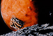 Phobos Prints - Astronaut In Personal Spacecraft Print by NASA / Science Source