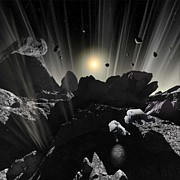 Observation Digital Art - Astronauts Explore The Tumultuous by Ron Miller