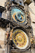 Astrological Art Framed Prints - Astronomical Clock in Prague Framed Print by Artur Bogacki