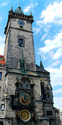 Astronomical Clock In Prague Print by Pravine Chester