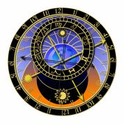 Mechanism Digital Art Metal Prints - Astronomical Clock Metal Print by Michal Boubin