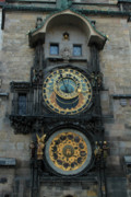 Astronomical Clock Framed Prints - Astronomical Clock Prague Framed Print by David Shaffer